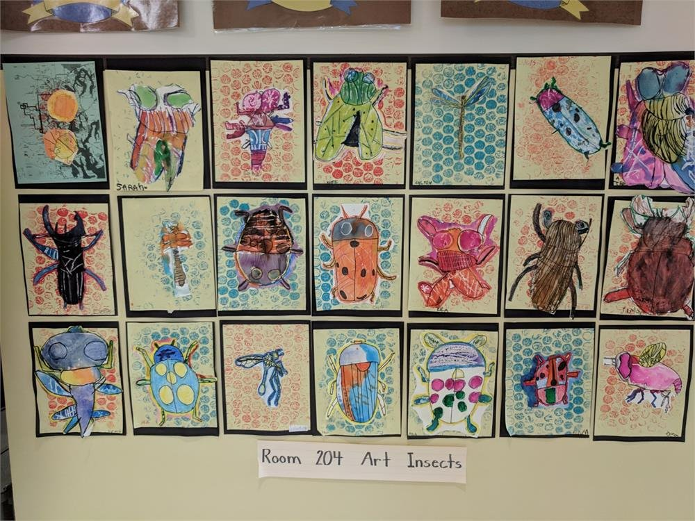 Wall of Art Insects Drawings